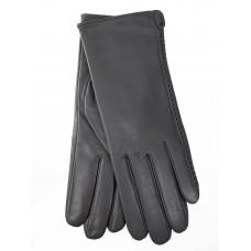 На фото 1 - Женские перчатки из натуральной кожи, цвет серебро