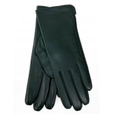 На фото 1 - Женские перчатки из натуральной кожи, цвет зеленый
