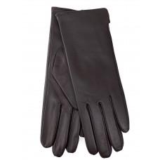 На фото 1 - Женские перчатки из натуральной кожи, цвет коричневый