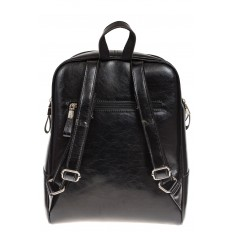 На фото 3 - Рюкзак из натуральной кожи черного цвета