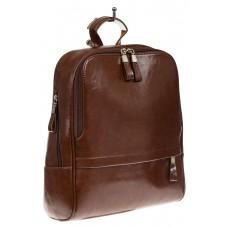 На фото 1 - Рюкзак из натуральной кожи коричневого цвета