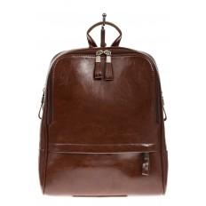 На фото 2 - Рюкзак из натуральной кожи коричневого цвета