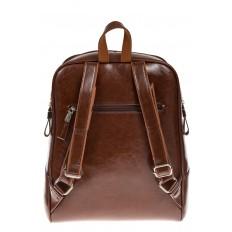 На фото 3 - Рюкзак из натуральной кожи коричневого цвета