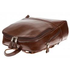 На фото 4 - Рюкзак из натуральной кожи коричневого цвета