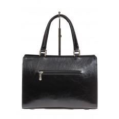 На фото 3 - Черная женская сумка из натуральной кожи для офиса