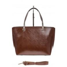 На фото 2 - Женская сумка из натуральной кожи, цвет коричневый