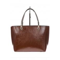 На фото 3 - Женская сумка из натуральной кожи, цвет коричневый