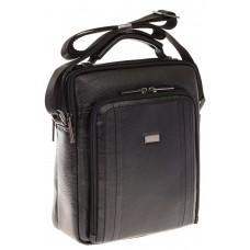 На фото 1 - Мужская кожаная сумка черного цвета 7057MM5