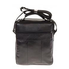 На фото 3 - Мужская кожаная сумка черного цвета 7057MM5