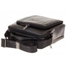 На фото 4 - Мужская кожаная сумка черного цвета 7057MM5