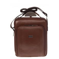 На фото 2 - Мужская деловая сумка из натуральной кожи, цвет рыжий