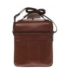 На фото 3 - Мужская деловая сумка из натуральной кожи, цвет рыжий