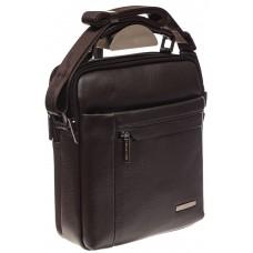 На фото 1 - Мужская сумка из натуральной кожи, цвет коричневый
