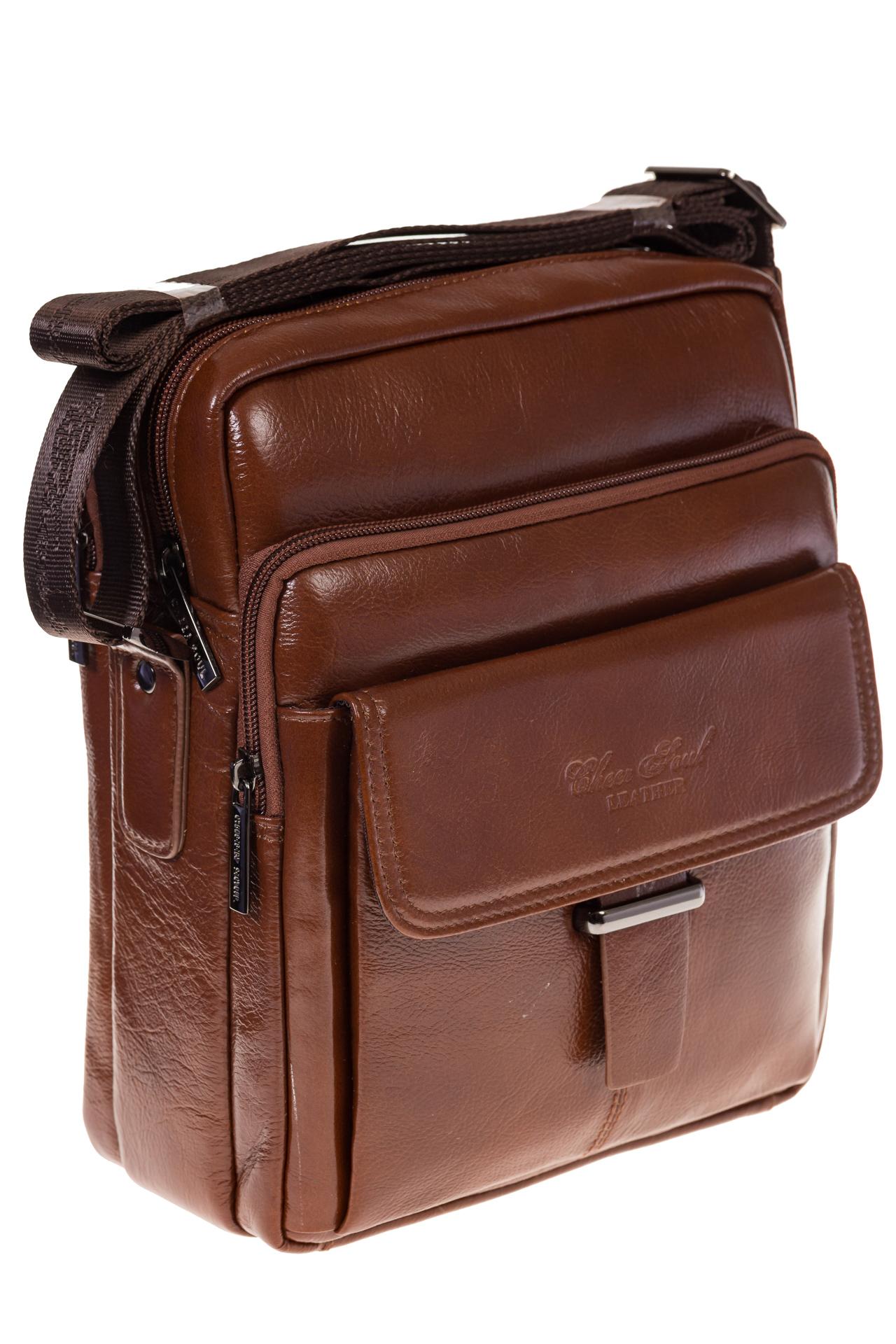 На фото сумка-визитница для мужчин коричневого цвета из натуральной кожи, купить оптом в магазине Грета