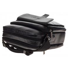 На фото 4 - Мужская сумка из натуральной кожи, цвет черный
