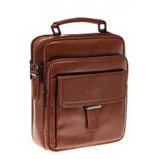 На фото 1 - Мужская сумка из натуральной кожи, цвет рыж...