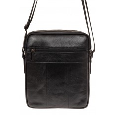 На фото 2 - Мужская сумка из натуральной кожи, цвет черный