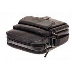 На фото 3 - Мужская сумка из натуральной кожи, цвет черный