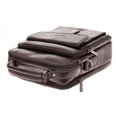 На фото 4 - Мужская сумка из натуральной кожи, цвет коричневый
