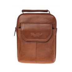 На фото 2 - Мужская сумка из натуральной кожи на каждый день, цвет рыжий