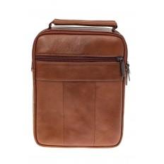 На фото 3 - Мужская сумка из натуральной кожи на каждый день, цвет рыжий