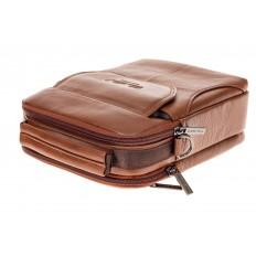 На фото 4 - Мужская сумка из натуральной кожи на каждый день, цвет рыжий