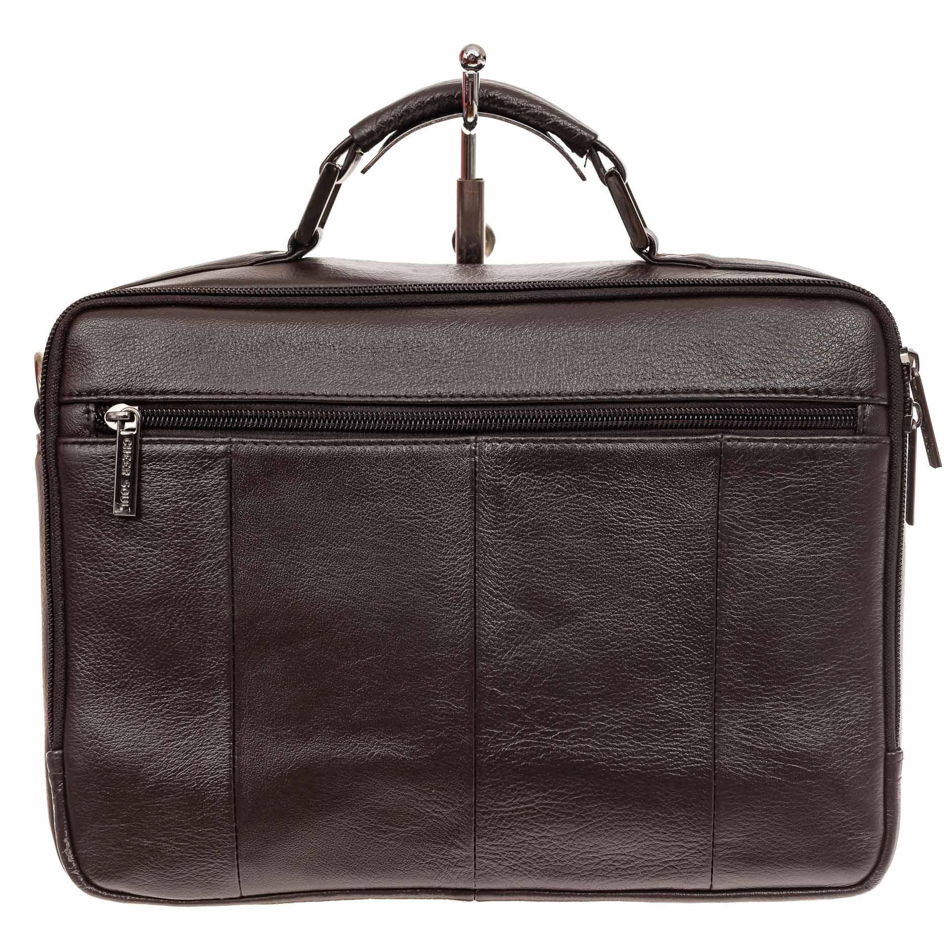 На фото 3 - Коричневая мужская сумка-мессенджер из кожи