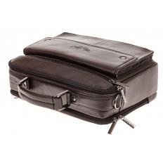 На фото 4 - Коричневая мужская сумка-мессенджер из кожи