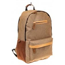 На фото 1 - Большой мужской рюкзак для города, цвет бежевый