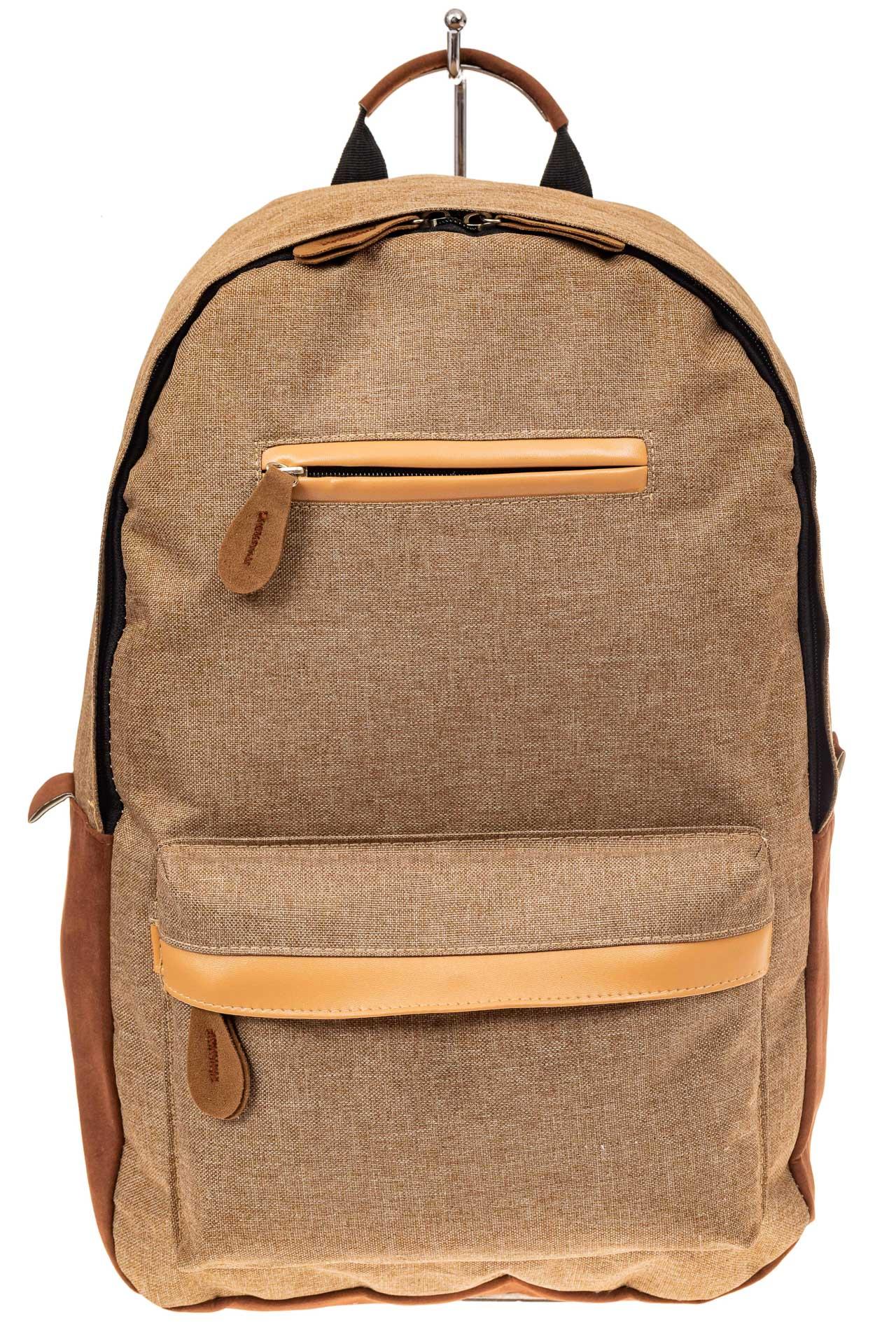 На фото 2 - Большой мужской рюкзак для города, цвет бежевый
