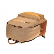 На фото 4 - Большой мужской рюкзак для города, цвет бежевый