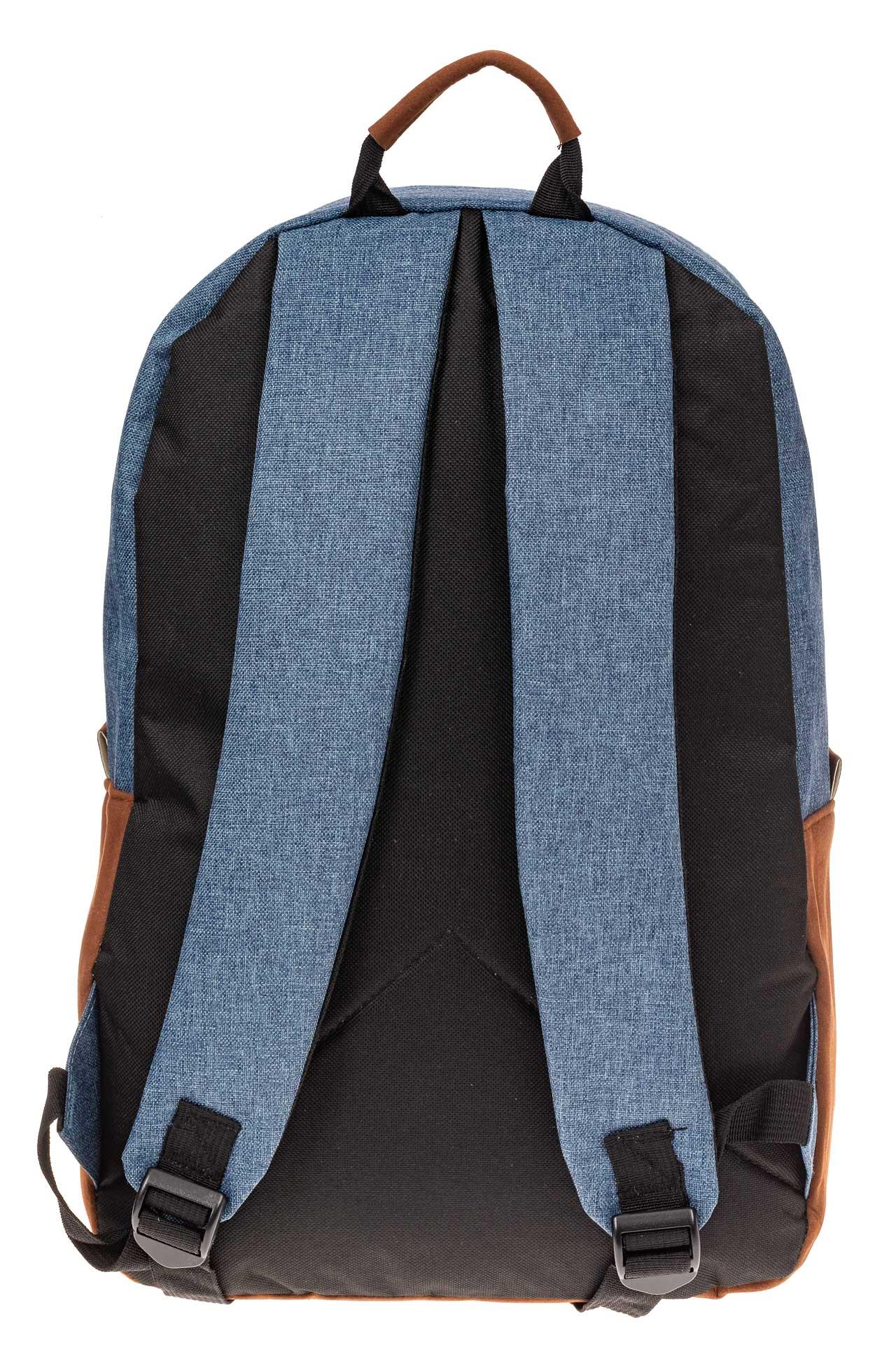 На фото 3 - Большой мужской рюкзак для города, цвет синий