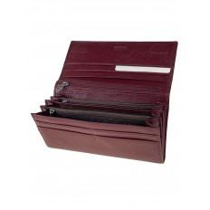 На фото 2 - Женское портмоне из мягкой натуральной кожи, цвет бордовый