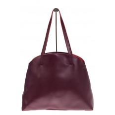 На фото 3 - Женская сумка из мягкой натуральной кожи, цвет бордо