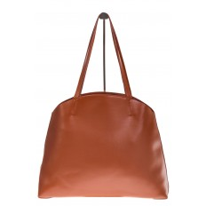 На фото 3 - Женская сумка из мягкой натуральной кожи, цвет рыжий