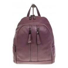 На фото 2 - Кожаный рюкзак цвета пудры для женщин 7112