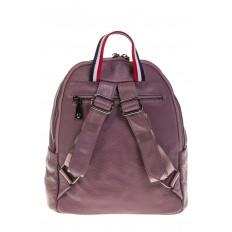 На фото 3 - Кожаный рюкзак цвета пудры для женщин 7112
