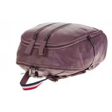 На фото 4 - Кожаный рюкзак цвета пудры для женщин 7112