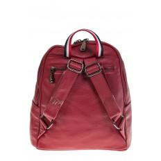 На фото 3 - Кожаный рюкзак бордового цвета для женщин 7112