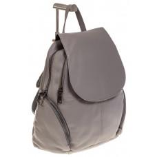На фото 1 - Серый женский рюкзак из натуральной кожи для города 7113