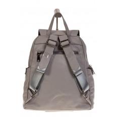 На фото 3 - Серый женский рюкзак из натуральной кожи для города 7113