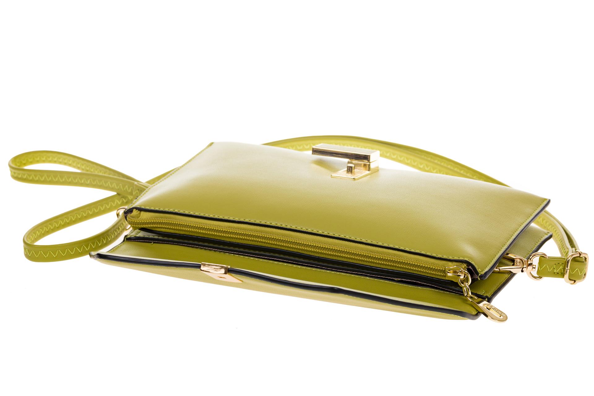 На фото 4 - Сумочка-Flat из эко-кожи цвет оливковый 7115-3