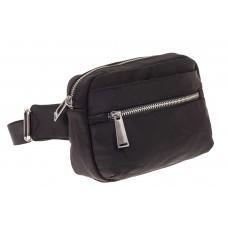 На фото 1 - Текстильная поясная сумка, цвет черный
