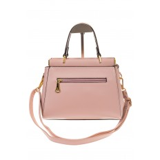 На фото 3 - Женская сумка с жесткой горловиной розового цвета 7139