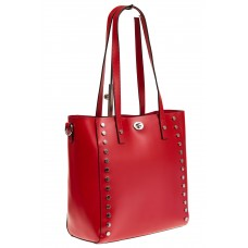Красная сумка-шопер из эко-кожи для оптовых покупателей