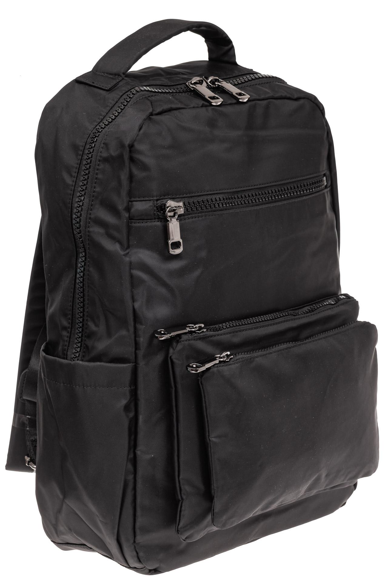 На фото 1 - Мужской рюкзак из текстиля, цвет черный