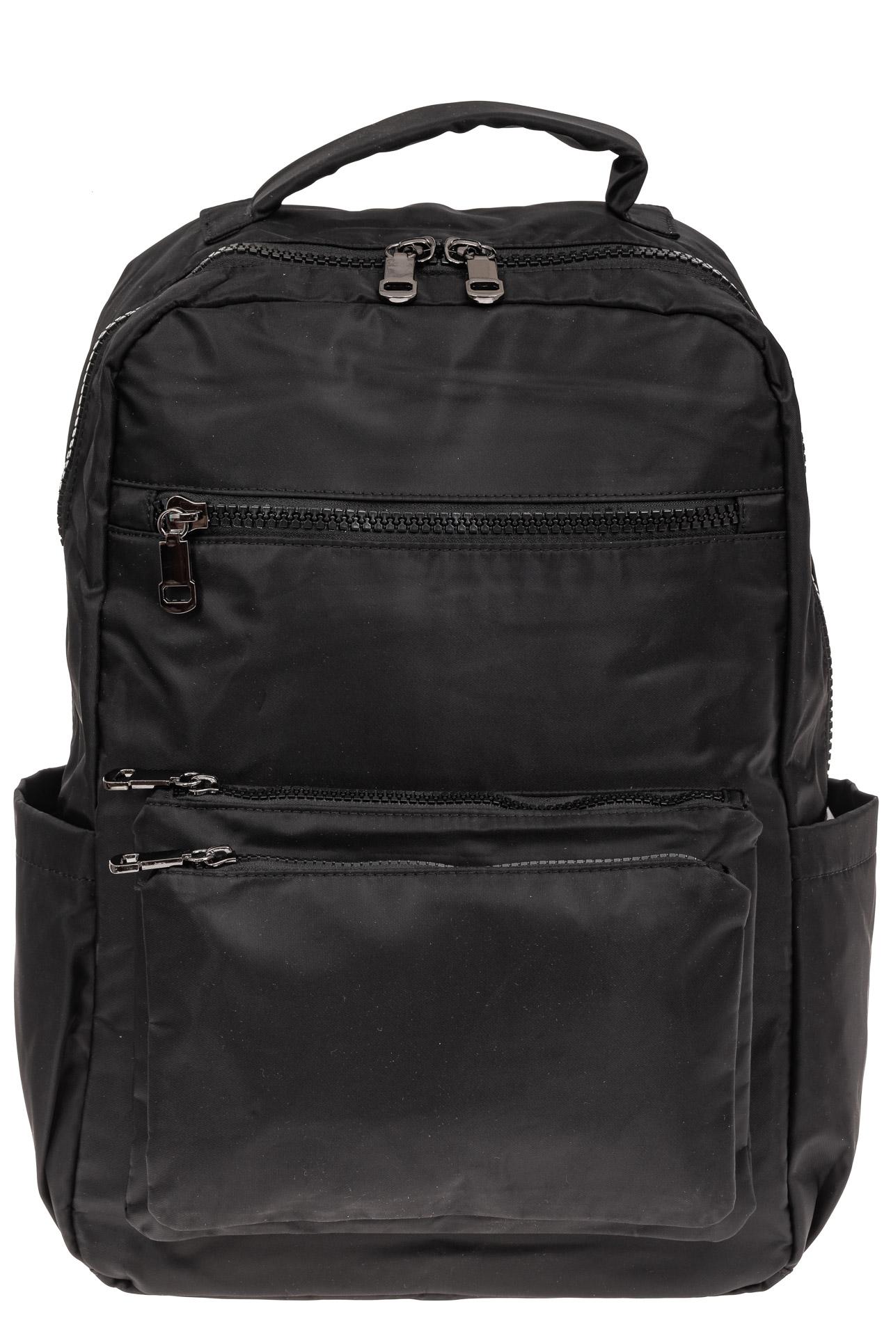 На фото 2 - Мужской рюкзак из текстиля, цвет черный