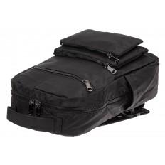 На фото 4 - Мужской рюкзак из текстиля, цвет черный