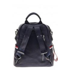 На фото 3 - Женский рюкзак из натуральной кожи, цвет синий
