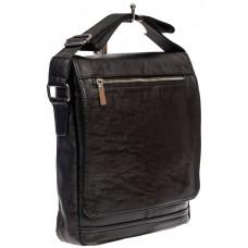 На фото 1 - Мужская сумка-планшет из искусственной кожи, цвет чёрный